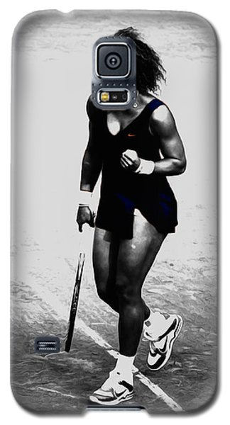 Serena Williams Galaxy S5 Case - Serena Williams Match Point 3a by Brian Reaves