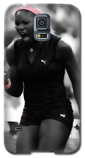 Serena Williams On Fire Galaxy S5 Case by Brian Reaves