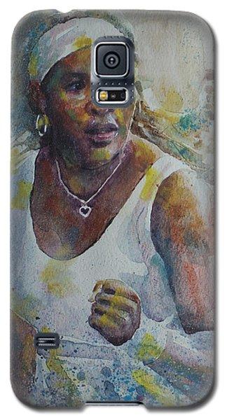 Serena Williams - Portrait 5 Galaxy S5 Case by Baresh Kebar - Kibar