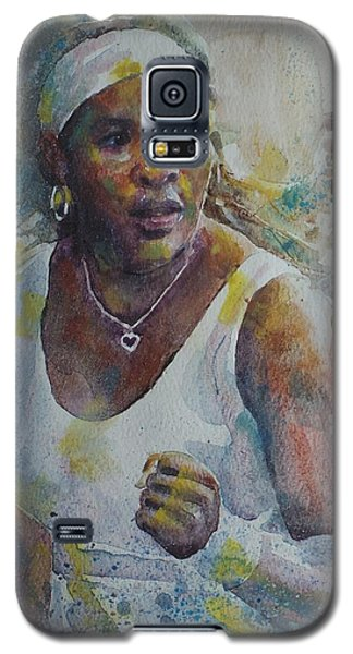 Serena Williams Galaxy S5 Case - Serena Williams - Portrait 5 by Baris Kibar