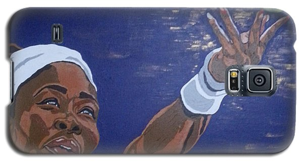 Galaxy S5 Case featuring the painting Serena Williams by Rachel Natalie Rawlins