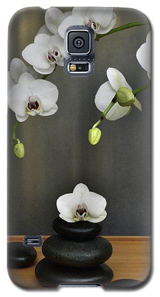 Galaxy S5 Case featuring the photograph Serene Orchid by Terence Davis