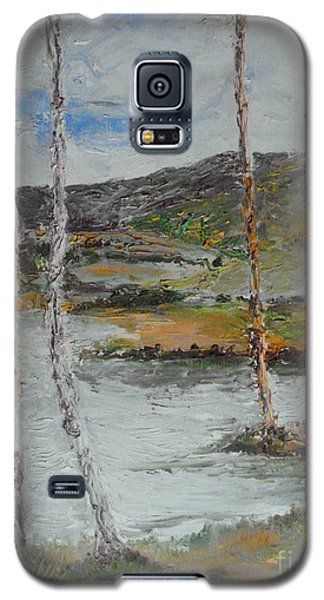 Galaxy S5 Case featuring the painting Serene Quiteness by Rushan Ruzaick