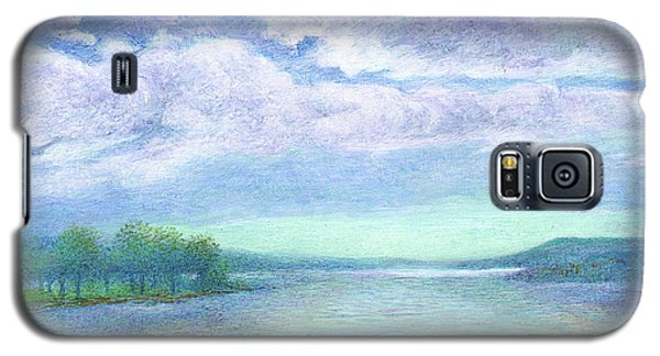 Galaxy S5 Case featuring the painting Serenity Blue Lake by Judith Cheng