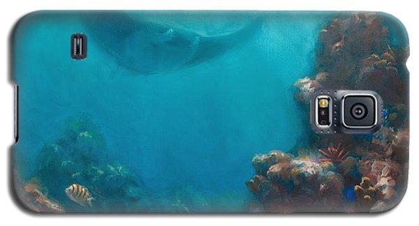 Serenity - Hawaiian Underwater Reef And Manta Ray Galaxy S5 Case by Karen Whitworth