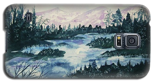 Galaxy S5 Case featuring the painting Serenity IIi by Ellen Levinson