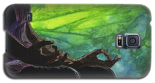 Galaxy S5 Case featuring the tapestry - textile Serenity by Jo Baner
