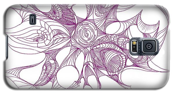 Serenity Swirled In Purple Galaxy S5 Case by Charles Cater