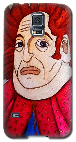 Galaxy S5 Case featuring the painting Serious Cardinal by Don Pedro De Gracia