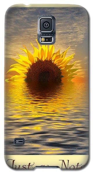 Setting Sun-flower Note Card Galaxy S5 Case