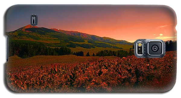Setting Sun In Crested Butte Galaxy S5 Case