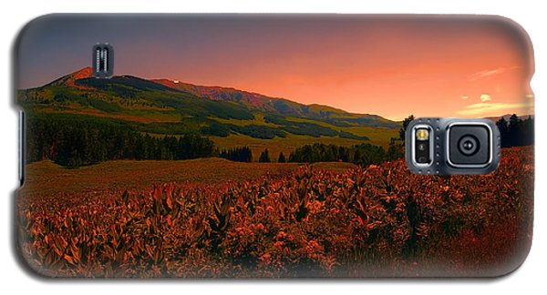 Setting Sun In Crested Butte Galaxy S5 Case by Tom Potter
