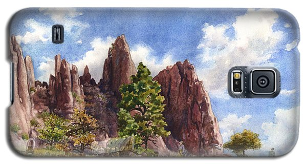 Galaxy S5 Case featuring the painting Settler's Park, Boulder, Colorado by Anne Gifford