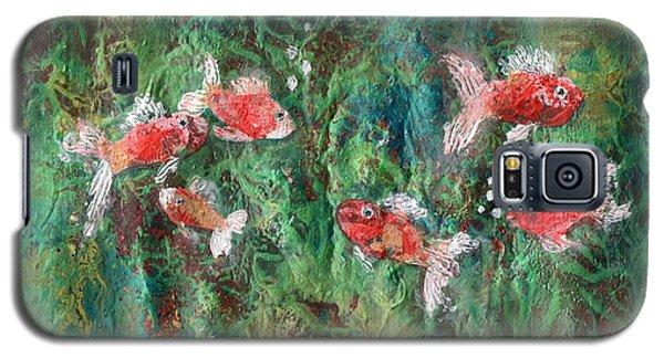 Seven Little Fishies Galaxy S5 Case by Maria Watt