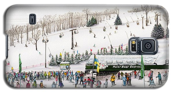 Galaxy S5 Case featuring the painting Seven Springs Stowe Slope by Albert Puskaric