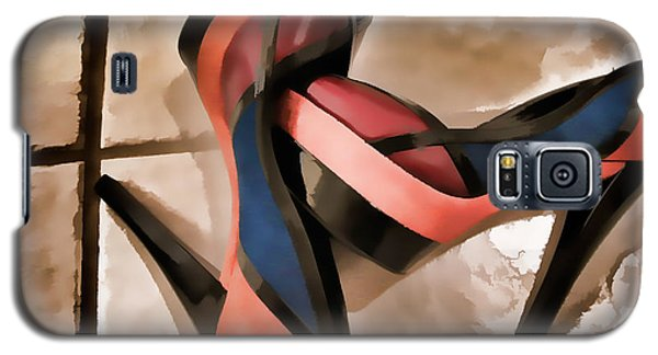 Sexy Orange High Heels Galaxy S5 Case