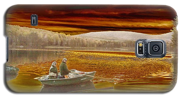 Galaxy S5 Case featuring the photograph Seyon Sunset by Paul Miller