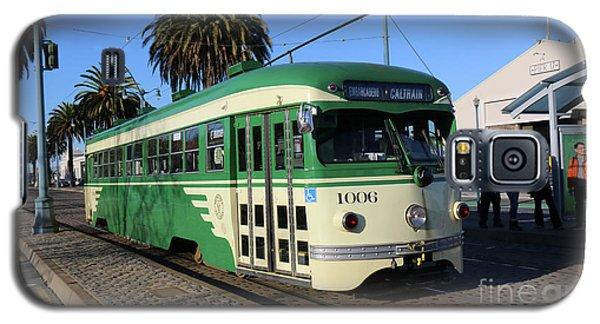 Sf Muni Railway Trolley Number 1006 Galaxy S5 Case by Steven Spak