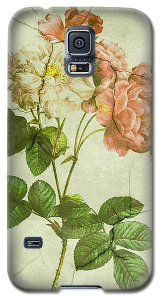 Shabby Chic Pink And White Peonies Galaxy S5 Case