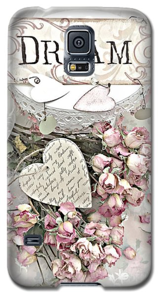 Galaxy S5 Case featuring the photograph Shabby Chic Romantic Dream Valentine Roses - Romantic Dreamy Roses Valentine Hearts by Kathy Fornal