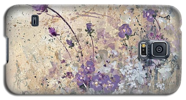 Galaxy S5 Case featuring the painting Shabby Eleven by Laura Lee Zanghetti
