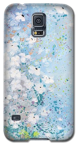 Galaxy S5 Case featuring the painting Shabby Nine by Laura Lee Zanghetti