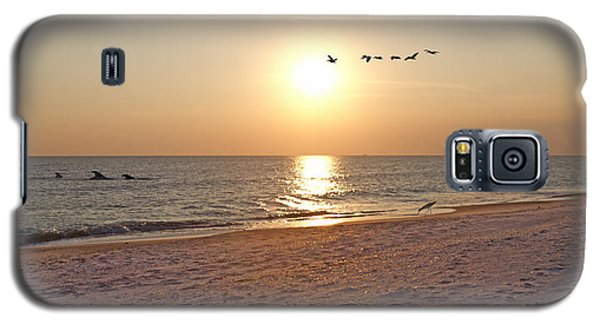 Shackleford Banks Sunset Galaxy S5 Case by Betsy Knapp