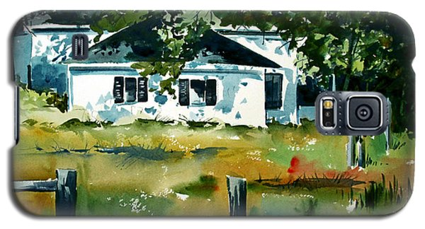 Galaxy S5 Case featuring the painting Shaded Porch by Charlie Spear