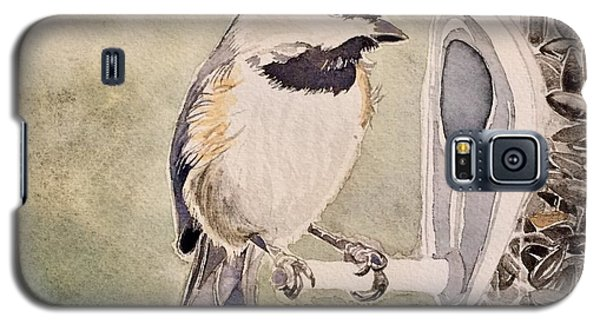Shades Of Black Capped Chickadee Galaxy S5 Case