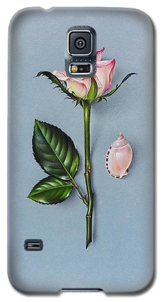 Galaxy S5 Case featuring the drawing Shades Of Pink by Elena Kolotusha