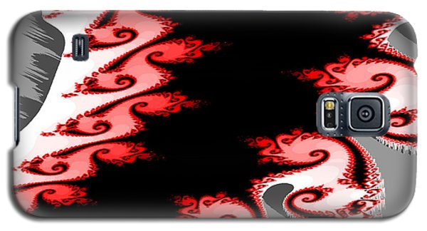 Shades Of Red And Gray Galaxy S5 Case