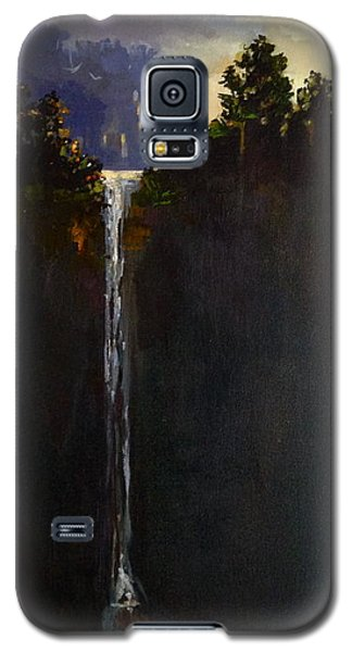 Galaxy S5 Case featuring the painting Shadow Falls by Helen Harris