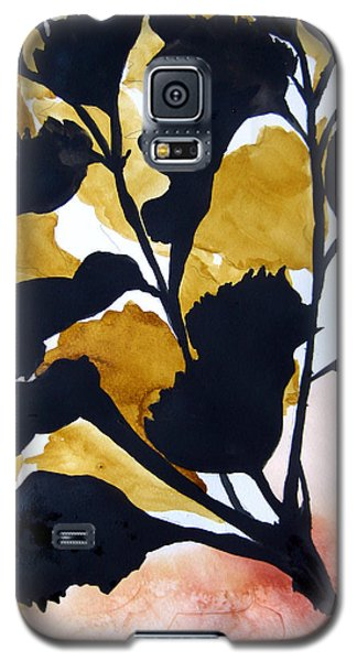 Shadow Hibiscus Galaxy S5 Case by Lil Taylor