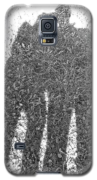 Galaxy S5 Case featuring the photograph Shadow In The Meadow Bw by Wilhelm Hufnagl
