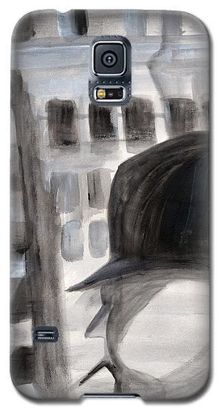Galaxy S5 Case featuring the painting Shadowman by Nadine Dennis