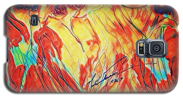 Galaxy S5 Case - Shadrach, Meshach And Abednego In The Fire With Jesus by Love Art Wonders By God