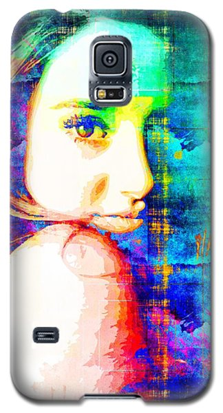 Galaxy S5 Case featuring the mixed media Shailene Woodley by Svelby Art