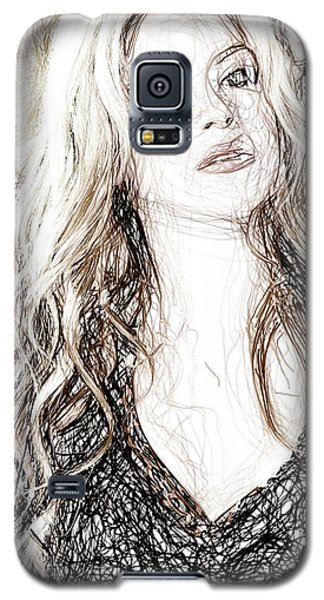 Shakira - Pencil Art Galaxy S5 Case by Raina Shah