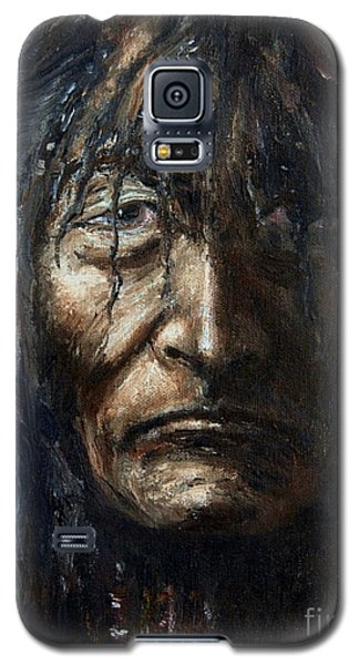 Galaxy S5 Case featuring the painting Shaman by Arturas Slapsys