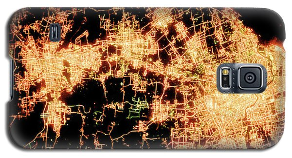 Galaxy S5 Case featuring the photograph Shanghai From Space by Delphimages Photo Creations