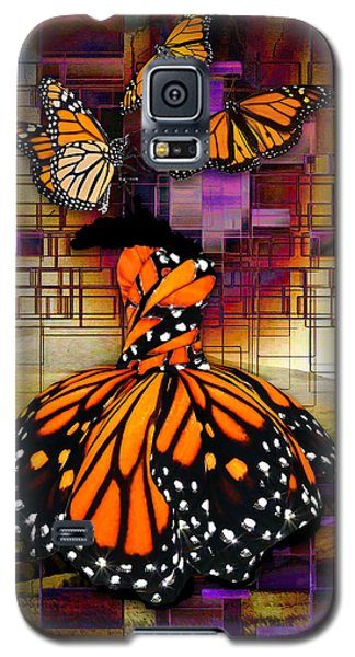 Galaxy S5 Case featuring the mixed media Shape Shifting by Marvin Blaine