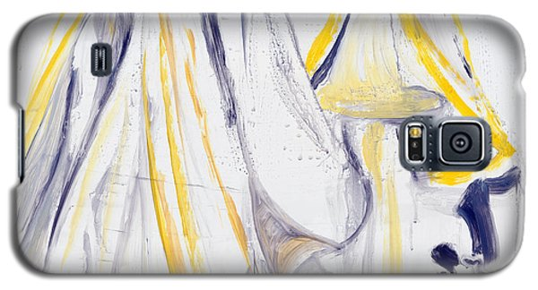 Galaxy S5 Case featuring the painting Shape Shifting by Nadine Dennis