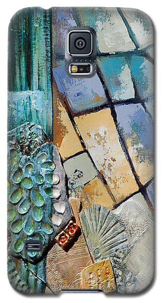 Shards Water Clay And Fire Galaxy S5 Case by Suzanne McKee