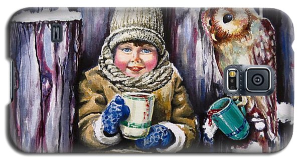 Galaxy S5 Case featuring the painting Sharing A Hot Chocolate by Geni Gorani