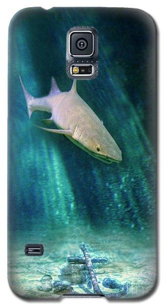 Galaxy S5 Case featuring the photograph Shark And Anchor by Jill Battaglia