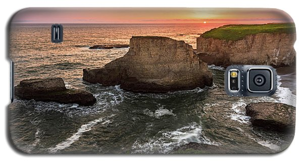 Shark Fin Cove Sunset Galaxy S5 Case