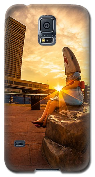Shark Girl Dawn - Square Galaxy S5 Case