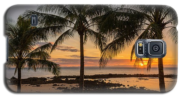 Rocky Galaxy S5 Case - Sharks Cove Sunset 4 - Oahu Hawaii by Brian Harig