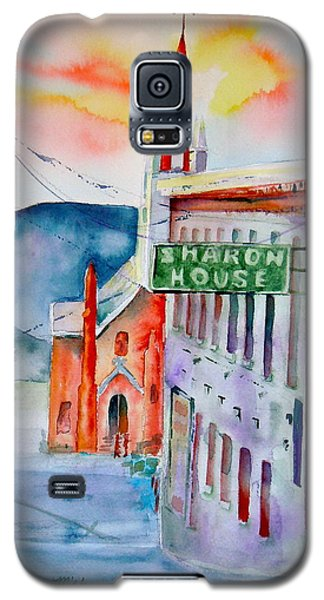 Galaxy S5 Case featuring the painting Sharon House by Sharon Mick