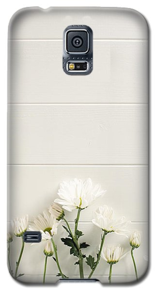 Shasta Daisies Cropped 2 Galaxy S5 Case